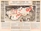 1947 Map 11x14 Communism Cold War Gulag Slavery Labor Camps Russia Soviet Print