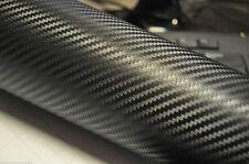 4D De Fibra De Carbono Vinilo Wrap Pegatina de Coche 1500mm X 600mm Negro