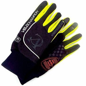 VeloChampion Autumn Mens Womens Cycling Gloves Wind Water Proof Silicone Padded