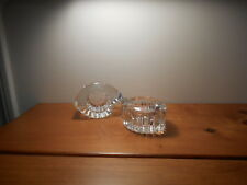 Partylite Heavy Crystal holder for tealight or votive candle Set of 2
