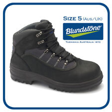 BLUNDSTONE 141 LACE UP SAFETY BOOTS  -BLACK-AUS/UK 5 **NEW IN BOX**
