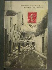 cpa 13 salon rue coutellerie tremblement de terre 11 juin 1909 catastrophe