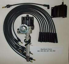 CHEVY BIG BLOCK 396-427-454 BLACK FEMALE Small HEI Distributor,Coil,PLUG WIRES