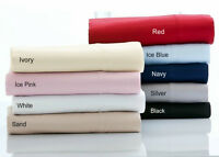 2 WHITE 375TC 100% Egyptian Cotton European Pillowcases