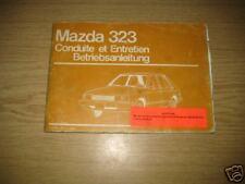 Betriebsanleitung Mazda 323 - Stand 1980