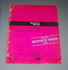 John Deere 208 L & G Tractor Operators Manual Om-M81644 D7 Used
