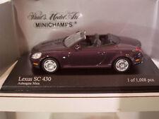 LEXUS SC 430 aubergine au 1/43 de Minichamps 400166132