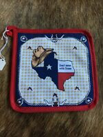 Don't Mess With Texas Pot Holder Western Chili Pepper Star Cowboy Red Lonestar