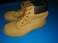 Timberland Helcor Wheat Boys Boots Size 13 Youth Kids Tims Leather brown