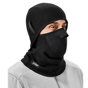 Balaclava, Neoprene Winter Face Mask, Detachable Top and Bottom, Straps To