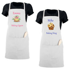 Personalised Apron Adult Kids Custom Name Text Baker Party Birthday Mother Gift