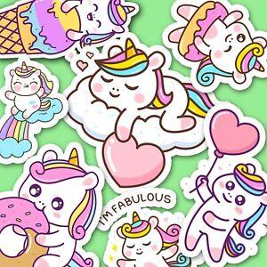 Cute Baby Unicorn Stickers - Kawaii Stickers - Journal Stickers [USA]