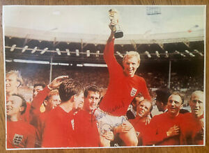 Signed Bobby Moore England World Cup 1966 West Ham United Autograph Photo