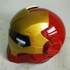 Man Motorcycle IRON MAN Open Face Half Helmet Casque Motocross Red 610 M L XL