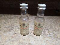 Vintage Plastic Salt And Pepper Shaker Set Advertising Dewar Bottle Alcohol