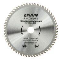 165mm x 60T TCT Cordless Circular Wood Saw Blade For Bosch, Makita, Dewalt Etc