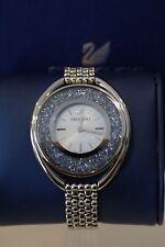 Swarovski Crystalline Oval Watch, Blue, Ladies Swiss Authentic #5263904 NIB