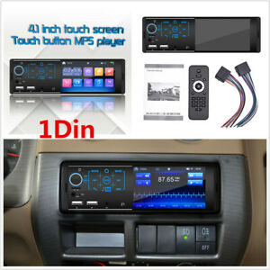 1Din 4.1Inch Full Touch Screen Car Stereo Radio MP5 Player Bluetooth FM Radio
