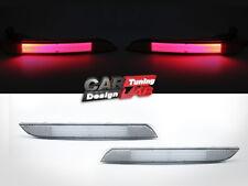 Smoke Lens / Red LED Rear Bumper Reflector Light Lamp Fits 2012-up BMW F30 F31