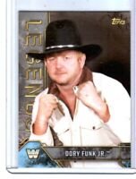 WWE Dory Funk Jr. #28 2017 Topps Legends Silver Parallel Card SN 79 of 99