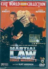 Martial Law 2. Codice Marziale 2 (1992) DVD NUOVO Cynthia Rothrock. Jeff Wincott