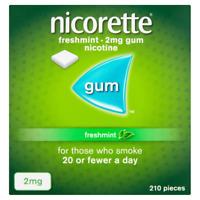 Nicorette GUM Freshmint 2 mg - 210 Pieces