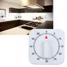 1PC Wihte 1 hour Cooking Egg Timer Alarm Clock for Beef Fish Stew new uk