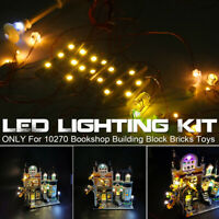LED Light Lighting Kit Fit For LEGO 10270 Bookshop Building Block Bricks Toys ︾