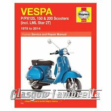 Haynes  Manual Vespa P/PX 125, 150 & 200 Scooters 1978-2014 & LML 2T + stickers