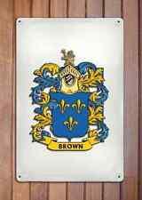 Terrell Coat of Arms A4 10x8 Metal Sign Aluminium Heraldry Heraldic