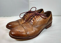 Johnston & Murphy Conard Leather Cap Toe Oxford Dress Shoes Size 9.5M Brown