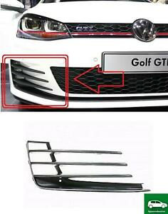 BUMPER GRILLES COVER FOG LIGHTS RIGHT COMPATIBLE WITH VW GOLF7 MK7 GTI/GTD 13-17