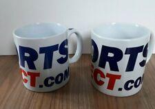 Sports Direct ceramic one pint mugs X 2 cups tea coffee huge pencil pot 20 oz