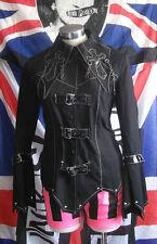 "Visual kei Black jacket Punk Rock  Goth Cross Angel Secret size Med 36"" chest"
