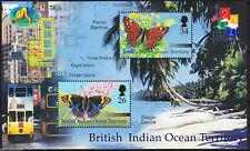 """British Indian Ocean Terr BIOT - """" BUTTERFLIES """" MNH MS Miniature Sheet 2000"""