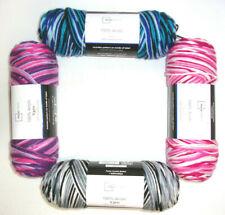 Mainstays Acrylic Yarn 5 oz ~ 1-Skein (Pink/Purple/Blue/Black Multi Variegated)