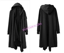 A Mens Gothic Long Cloak Cape Coat Loose Leisure Jacket  PunK Trench Outwear New
