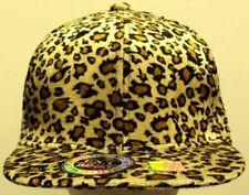 CORDUROY CHEETAH LEOPARD FAUX FUR SKIN PRINT ANIMAL BASEBALL CAP HAT SNAPBACK OS