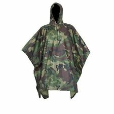 Waterproof Army Hooded Ripstop Camo Rain Poncho Military Hunting Camping Hiking