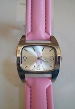 Pink Ribbon Breast Cancer Awareness Leather Band Wrist Fashion Watch