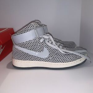 Nike AF1 Ultra Force Mid Sneakers Pure Platinum Women's Sz US 8 Gray Silver Dots