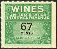 RE192 REVENUE Wines 67c Green & Blk OFFSET NUMERAL MNH $12 SEE PHOTOS C-281