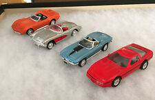 4 1:43 Scale Diecast Corvettes New Ray Ertl