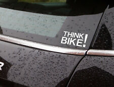 "think bike vinyl sticker 7"" wide plus custom sizes also available in black"