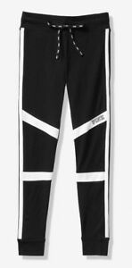NWT Victoria's Secret PINK (XS) CAMPUS LEGGINGS COLORBLOCK- Black with White-XS