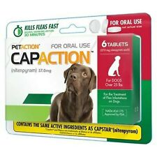 CapAction Oral Flea Treatment Large Dog 6ct New