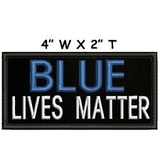 Blue Lives Matter Embroidered Patch Iron / Sew-On Applique Riots Protests