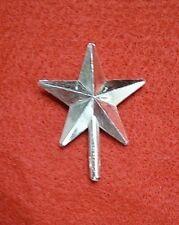 Ceramic Christmas Tree Topper Silver Metallic Medium Star VINTAGE RARE