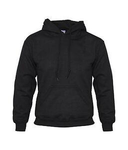 Mens Plain Hoodie Blank Pullover Hooded Hoody Sweatshirt Gym Plus Size Top