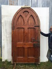 LARGE TUDOR GOTHIC FRONT DOOR ANTIQUE PERIOD RECLAIMED OLD ARCHED FRAME PINE & Gothic Antique Doors | eBay Pezcame.Com